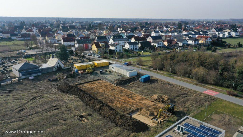 Einhausen Im Knippel Neubaugebiet Luftaufnahmen