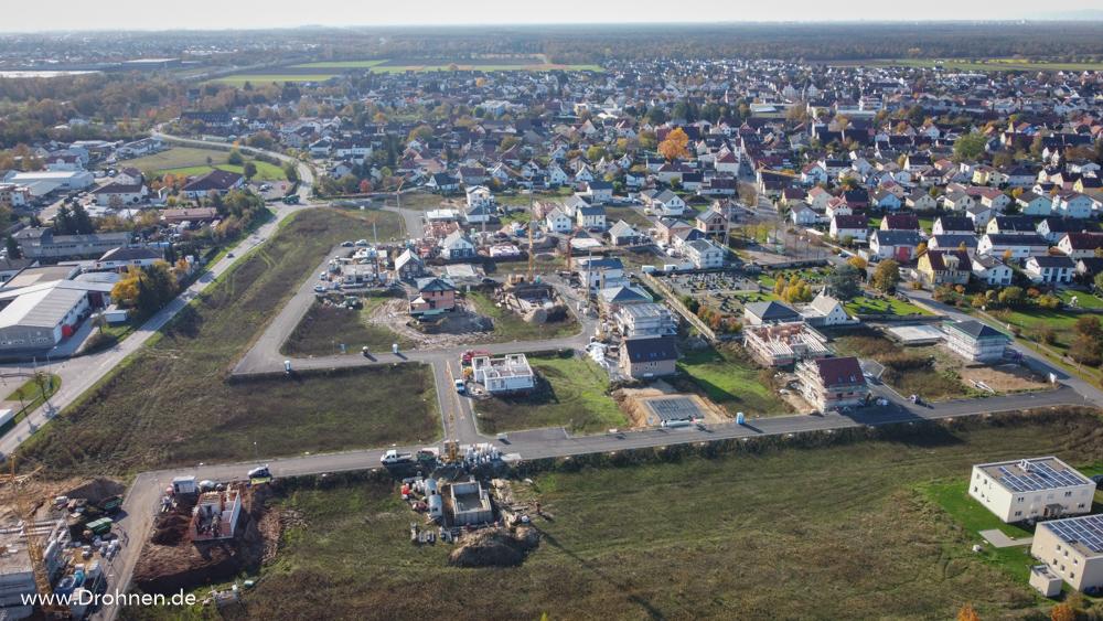 Einhausen Neubaugebiet Im Knippel - Luftbilder